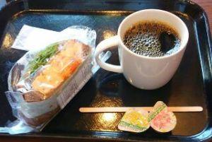 サンドウイッチとコーヒーおいしかった!